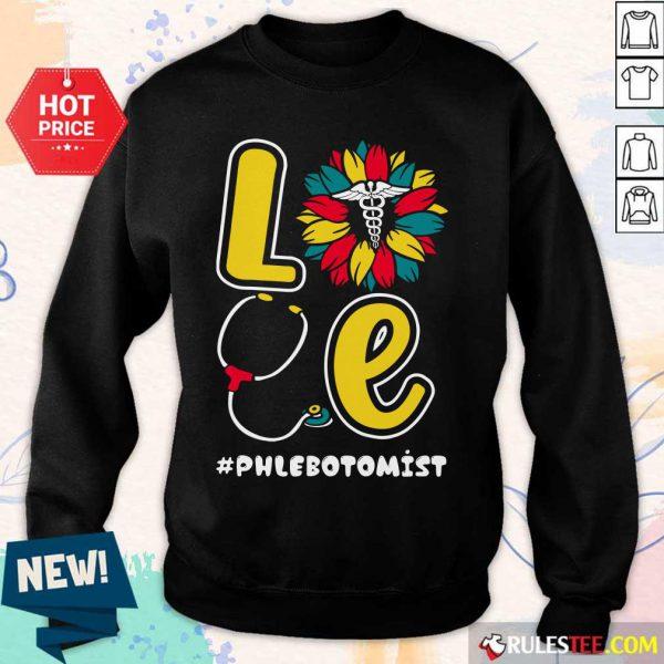 Love Nurse Medical Stethoscope Phlebotomist Sweater