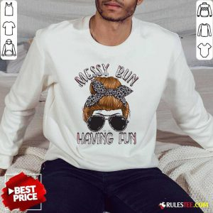 Messy Bun Having Fun Simply Southern Collection Sweater