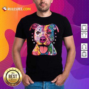Nice Pitbull Rainbow Neon Shirt