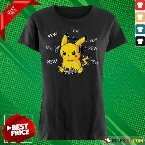 Pikachu Play Game Pew Pew Ladies Tee
