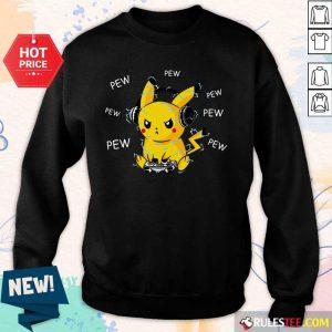 Pikachu Play Game Pew Pew Sweater