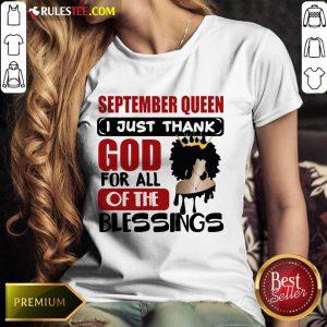 September Queen I Just Thank God Ladies Tee