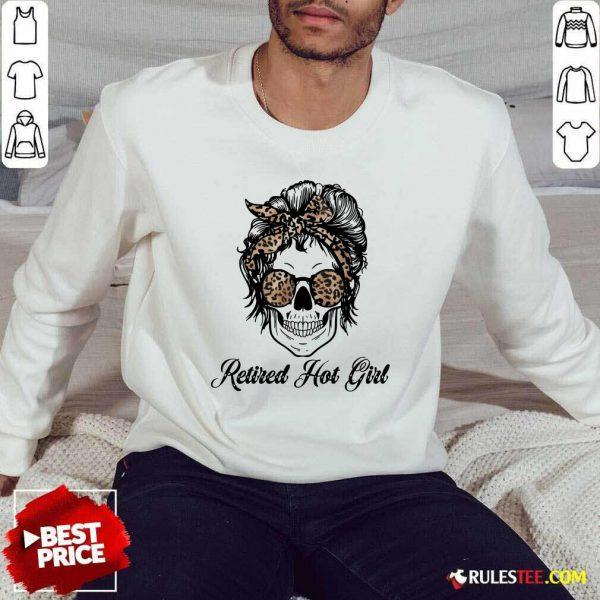 Skull Retired Hot Bun Girl Sweater