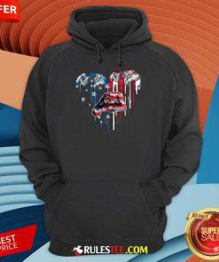 Sloth Heart American Flag Hoodie