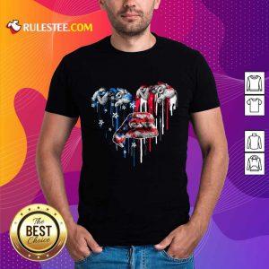 Sloth Heart American Flag Shirt
