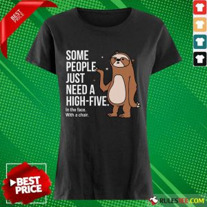 Sloth Just Need A High Five Ladies Tee
