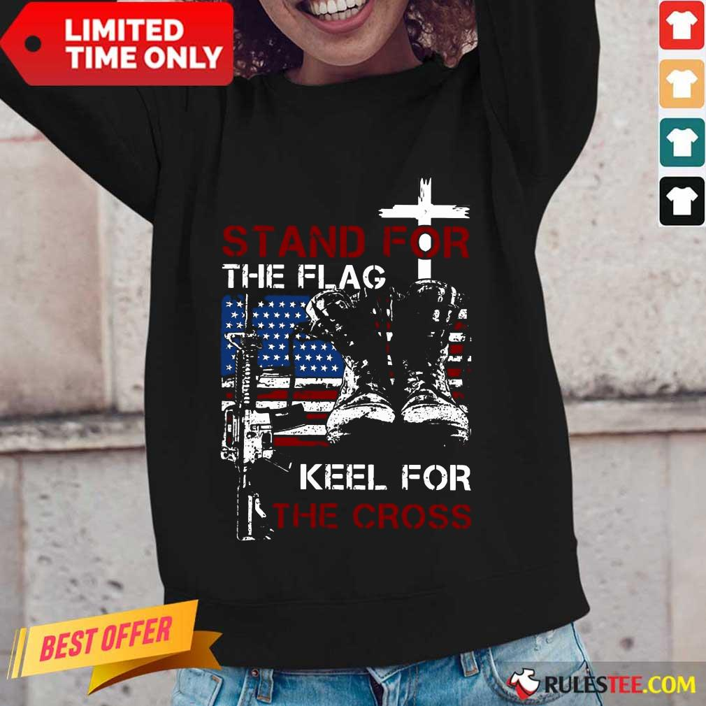 Stand For The Flag Keel For The Cross Long-Sleeved