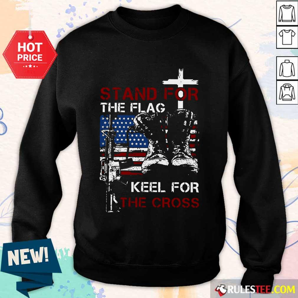 Stand For The Flag Keel For The Cross Sweater