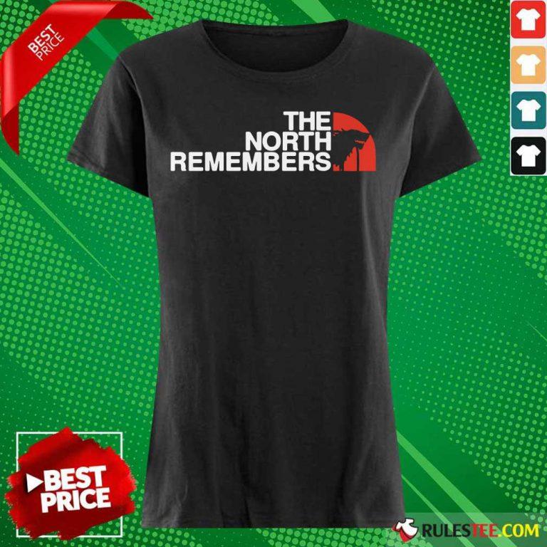 The North Remembers Wolf Black Ladies Tee