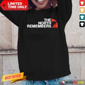 The North Remembers Wolf Black Long-Sleeved