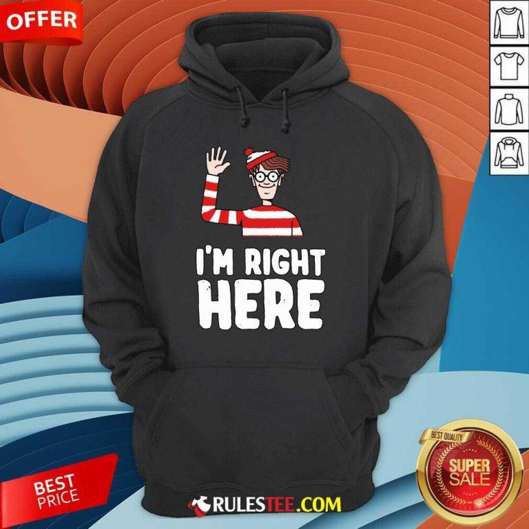 Where's Waldo I'm Right Here Hoodie