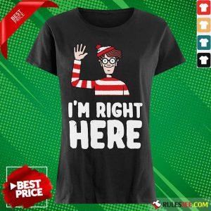 Where's Waldo I'm Right Here Ladies Tee