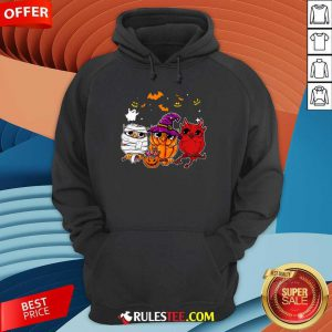 Witch Owl Scary And Cute Halloween Hoodie
