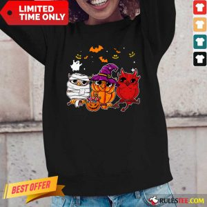 Witch Owl Scary And Cute Halloween Long-Sleeved