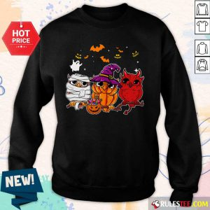 Witch Owl Scary And Cute Halloween Sweater
