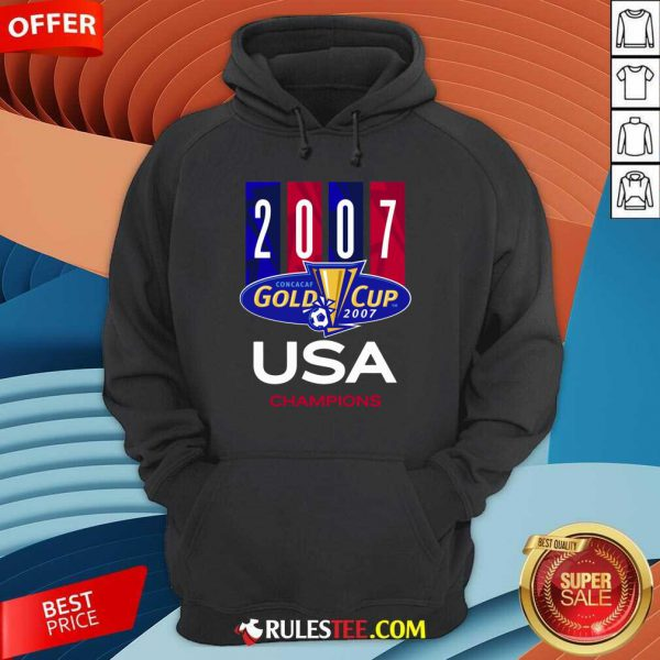 2007 Concacaf Gold Cup USA Champions Hoodie