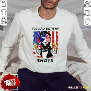 Abraham Lincoln I've Had Both My Shots American Flag 4th Of July Sweater