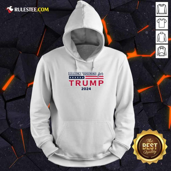 Black Voices For Trump 2024 Hoodie