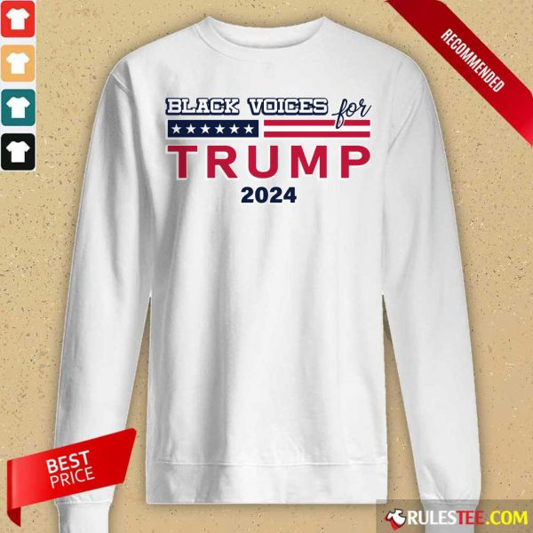 Black Voices For Trump 2024 Long-Sleeved