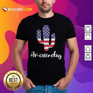 Cactus American Flag 4th Of July Shirt