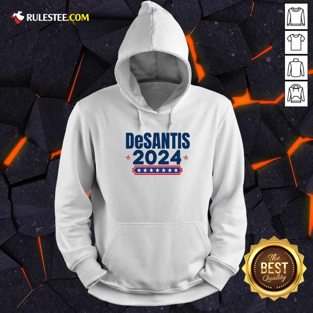 Desantis 2024 Stars And Stripes Red White And Blue Hoodie