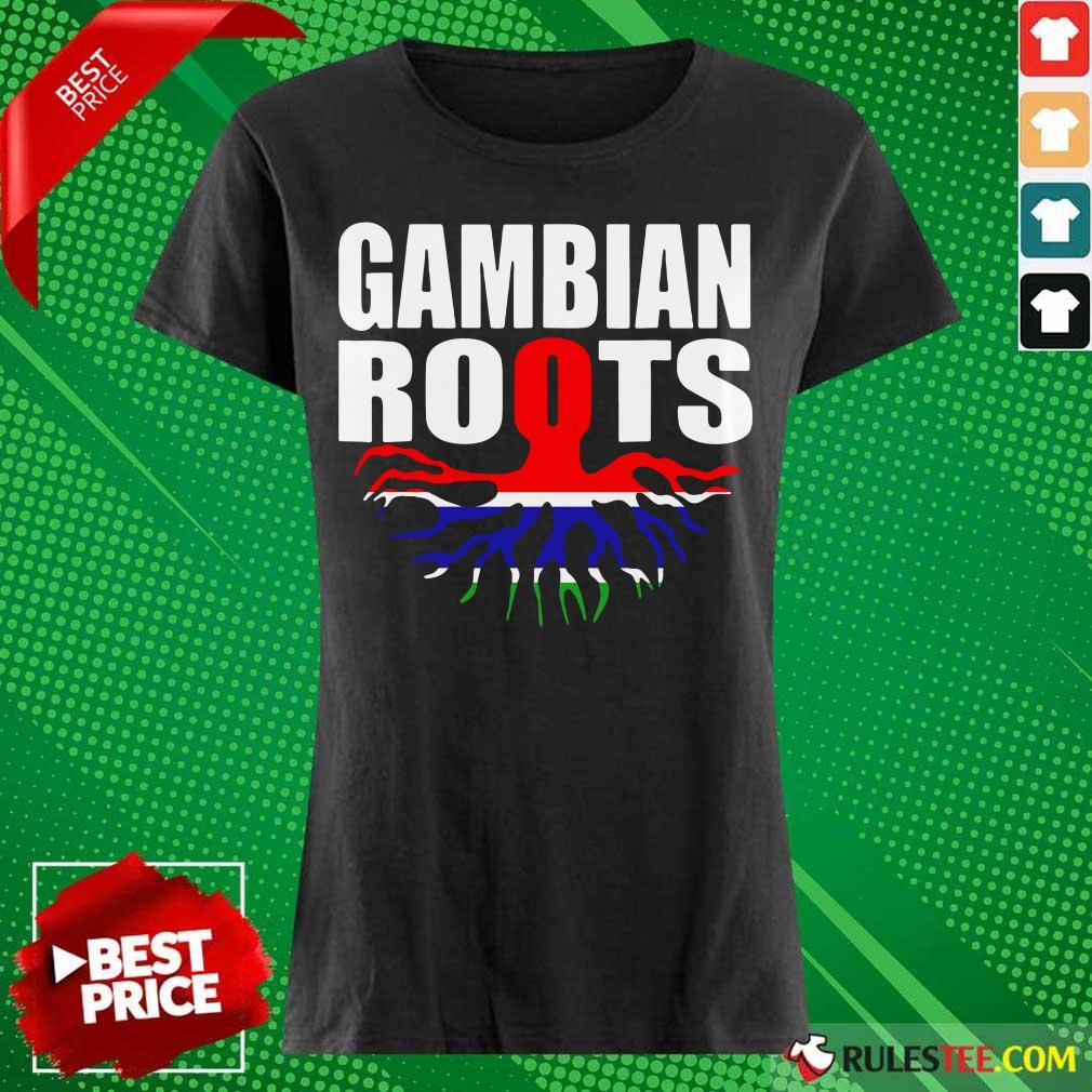 Gambian Roots Gambia Pride Flag Ladies Tee
