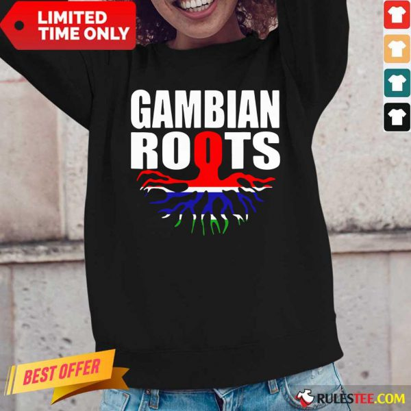 Gambian Roots Gambia Pride Flag Long-Sleeved