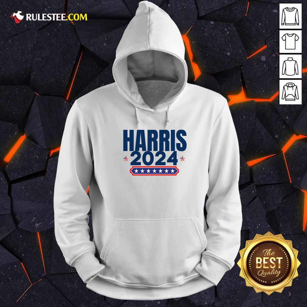 Harris 2024 Stars And Stripes Red White And Blue Hoodie