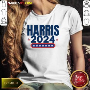 Harris 2024 Stars And Stripes Red White And Blue Ladies Tee
