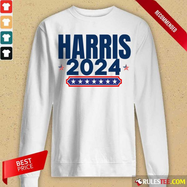 Harris 2024 Stars And Stripes Red White And Blue Long-Sleeved