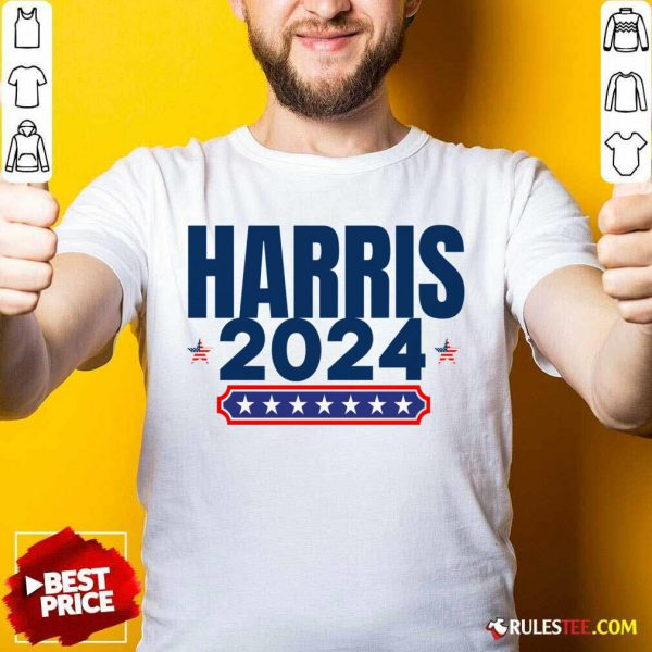 Harris 2024 Stars And Stripes Red White And Blue Shirt