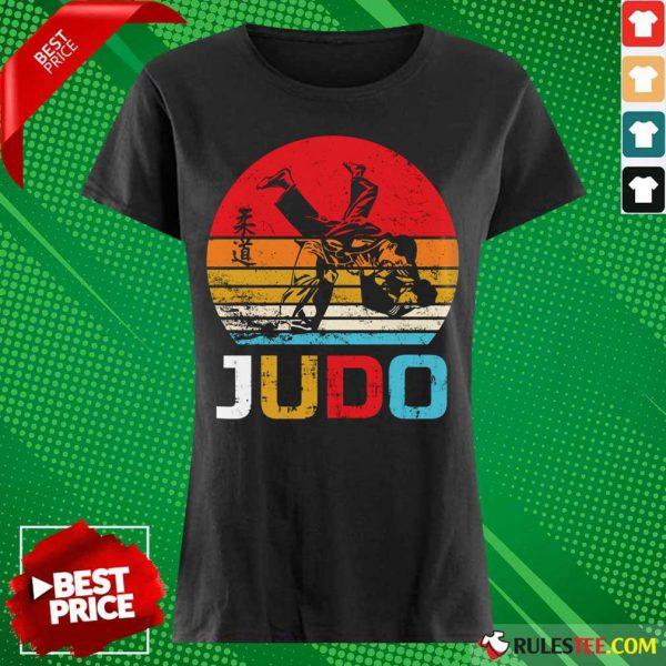 Judo Sunset Throw Vintage Ladies Tee