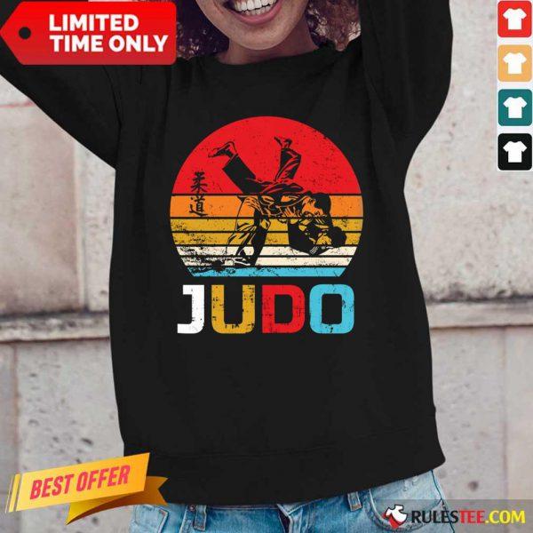 Judo Sunset Throw Vintage Long-Sleeved