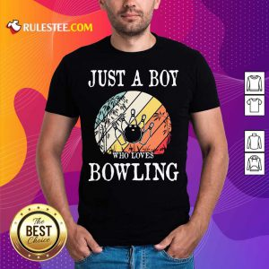 Just A Boy Who Loves Bowling Vintage Shirt