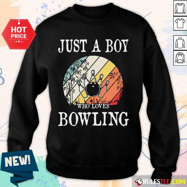 Just A Boy Who Loves Bowling Vintage Sweater