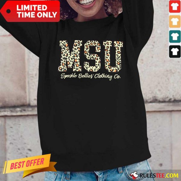 MSU Speckle Bellies Clothing Co Leopard Long-Sleeved