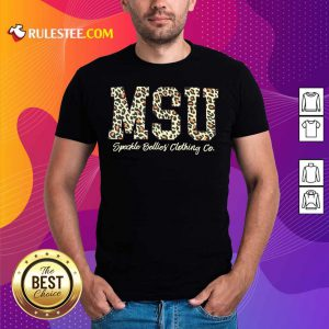 MSU Speckle Bellies Clothing Co Leopard Shirt