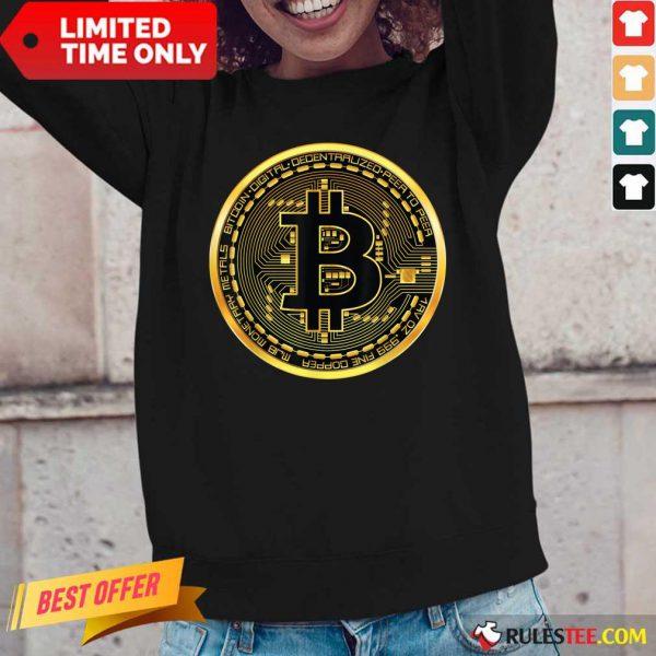 Nice Bitcoin Gold Coin Long-Sleeved