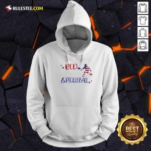 Red And Pickleball American Flag Independence Day Hoodie