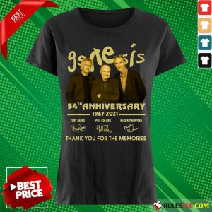The Genesis 54th Anniversary 1967-2021 Thank You For The Memories Signature Ladies Tee