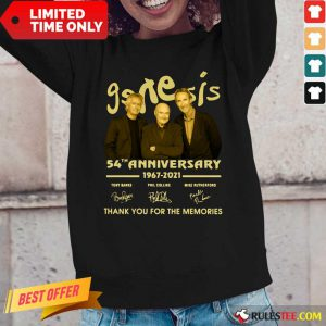 The Genesis 54th Anniversary 1967-2021 Thank You For The Memories Signature Long-Sleeved